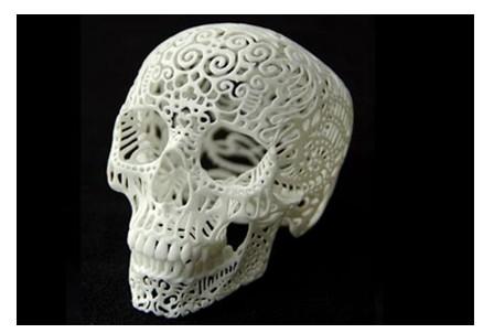 3D打印头骨雕像